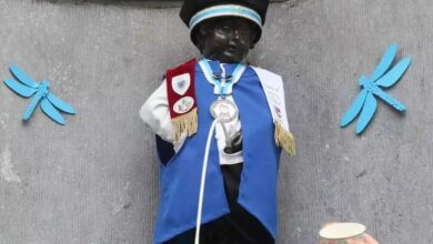 Photo of بروكسل : مانكين بيس يرتدي زيه الجديد رقم 1040