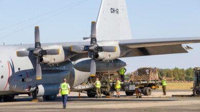 Photo of مغادرة طائرة C-130 بلجيكية تحمل مساعدات طبية إلى لبنان